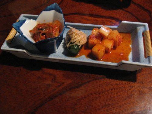 Irori Inkyo kimchi set